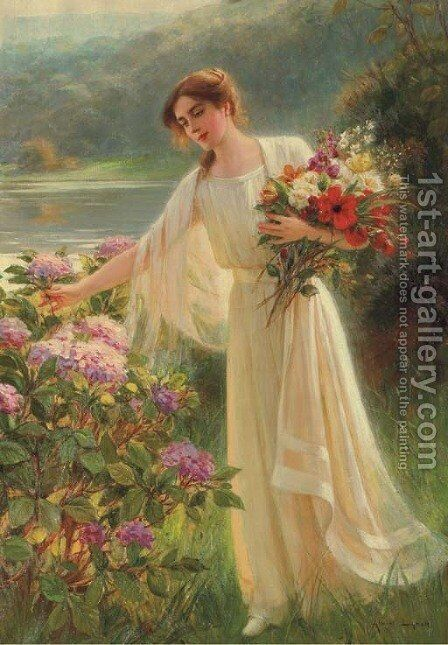 The Morning Walk by Albert Lynch - Reproduction Oil Painting
