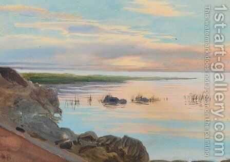 Landscape by Albert Nikolaevich Benois - Reproduction Oil Painting