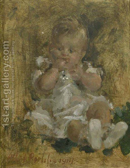 De Baby by Albert Roelofs - Reproduction Oil Painting