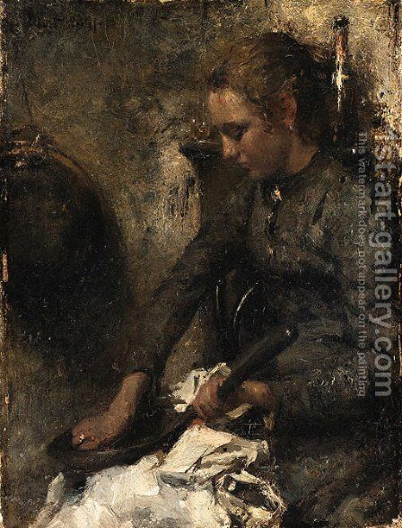 Woman by Albert Roelofs - Reproduction Oil Painting