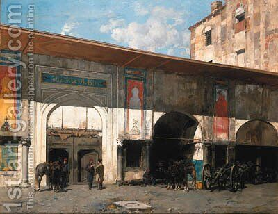 Untitled by Alberto Pasini - Reproduction Oil Painting