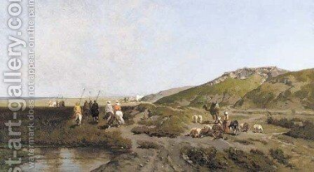 Retreat after the drink, Tripoli by Alberto Pasini - Reproduction Oil Painting