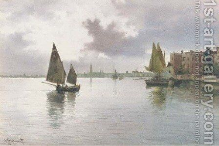 On the Lagoon, Venice by Alberto Prosdocimi - Reproduction Oil Painting
