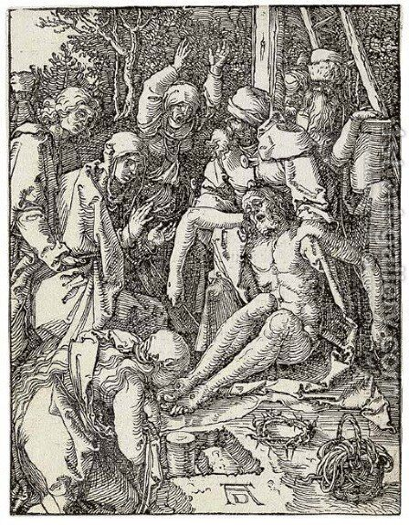 Five plates, from The Small Woodcut Passion by Albrecht Durer - Reproduction Oil Painting