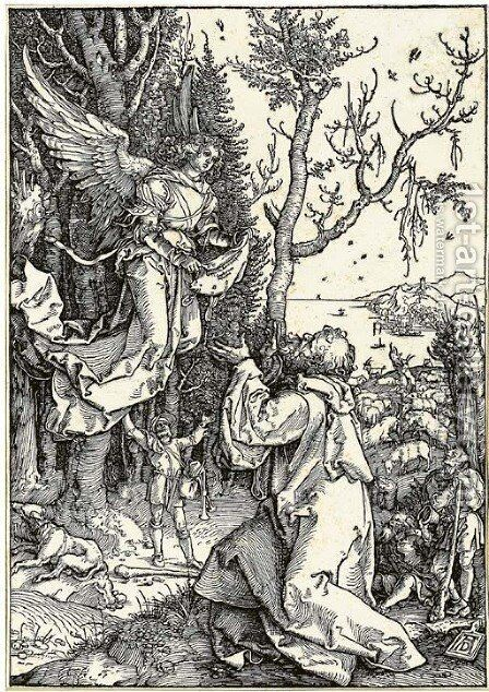 Joachim and the Angel, from Life of the Virgin by Albrecht Durer - Reproduction Oil Painting