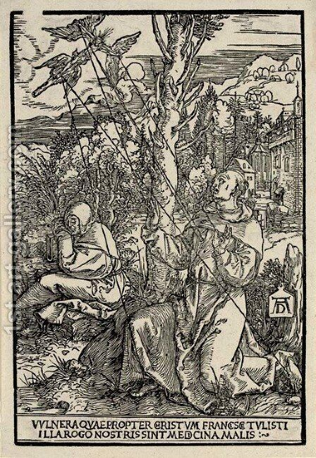 Saint Francis receiving the Stigmata by Albrecht Durer - Reproduction Oil Painting