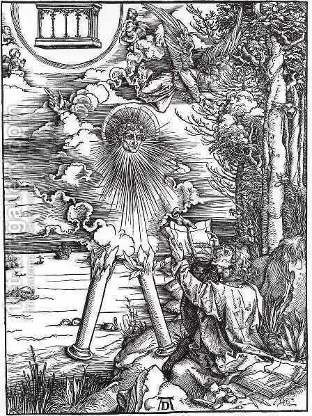 Saint John devouring the Book, from The Apocalypse by Albrecht Durer - Reproduction Oil Painting