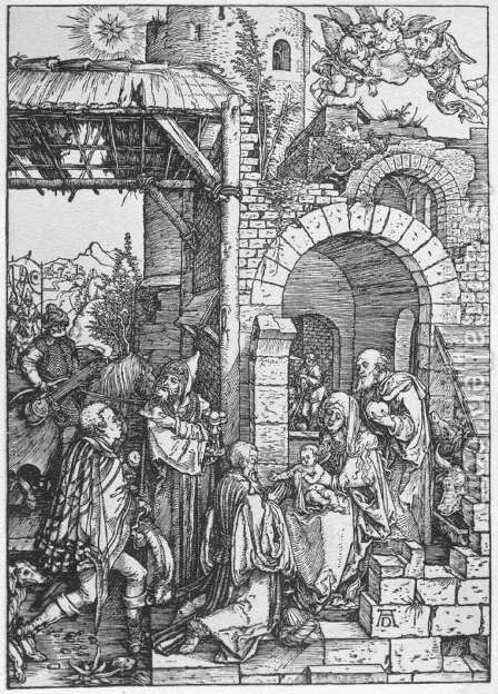 The Adoration of the Magi, from The Life of the Virgin by Albrecht Durer - Reproduction Oil Painting