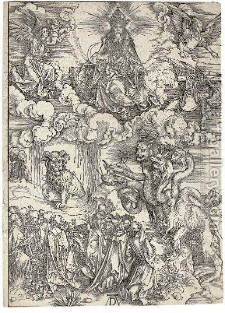 The Beast with two Horns like a Lamb, from The Apocalypse by Albrecht Durer - Reproduction Oil Painting