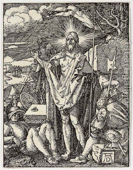 The Resurrection, from The Small Woodcut Passion by Albrecht Durer - Reproduction Oil Painting