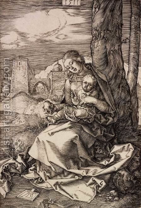 The Virgin and Child with a Pear by Albrecht Durer - Reproduction Oil Painting