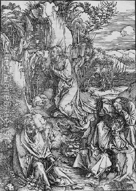 The Agony in the Garden, from The Large Passion by Albrecht Durer - Reproduction Oil Painting