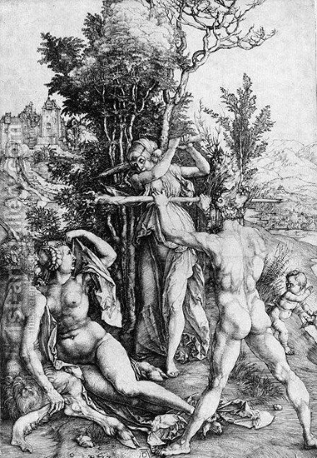 Hercules, or the Effects of Jealousy by Albrecht Durer - Reproduction Oil Painting