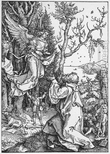 Joachim and the Angel, from The Life of the Virgin by Albrecht Durer - Reproduction Oil Painting