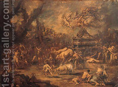 David dancing before the Ark of the Covenant by Alessandro Magnasco - Reproduction Oil Painting