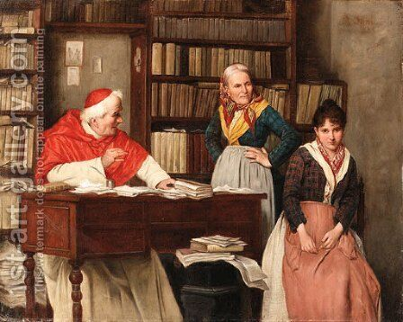 The lecture by Alessandro Sani - Reproduction Oil Painting