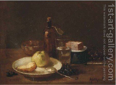 A kitchen still life by Aletta Van Thol-Ruysch - Reproduction Oil Painting