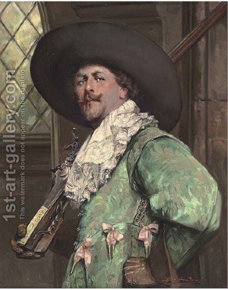 A musketeer by Alex De Andreis - Reproduction Oil Painting