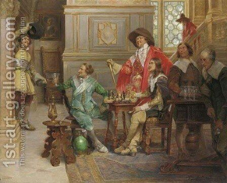 The Arrival of D'Artagnan by Alex De Andreis - Reproduction Oil Painting