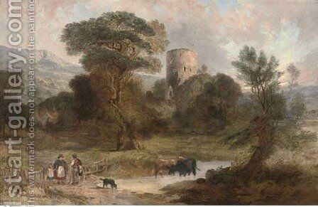 Tretower, Breconshire by Alexander F. Rolfe - Reproduction Oil Painting