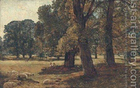 Sketch in Stoke Park by Alexander Jnr. Fraser - Reproduction Oil Painting