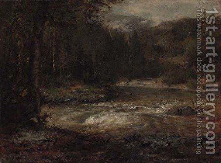 Mountain Stream by Alexander Helwig Wyant - Reproduction Oil Painting