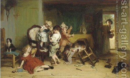 Bedlam by Alexander Hohenlohe Burr - Reproduction Oil Painting