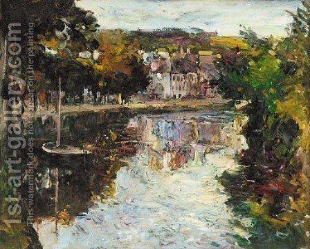 On the river, Quimperle, Brittany by Jacopo Tintoretto (Robusti) - Reproduction Oil Painting