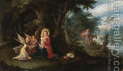 The Rest on the Flight into Egypt by Alexander Keirincx - Reproduction Oil Painting