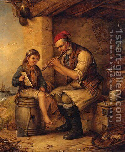 Music Hath Charms, Stolen Moments by Alexander Leggett - Reproduction Oil Painting