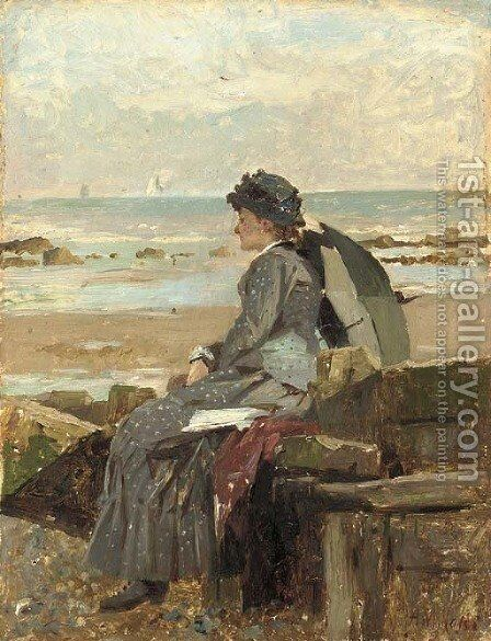 Expectation by Alexander M. Rossi - Reproduction Oil Painting