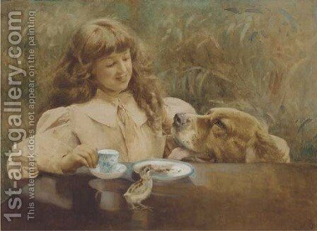 Loyal companions by Alexander M. Rossi - Reproduction Oil Painting