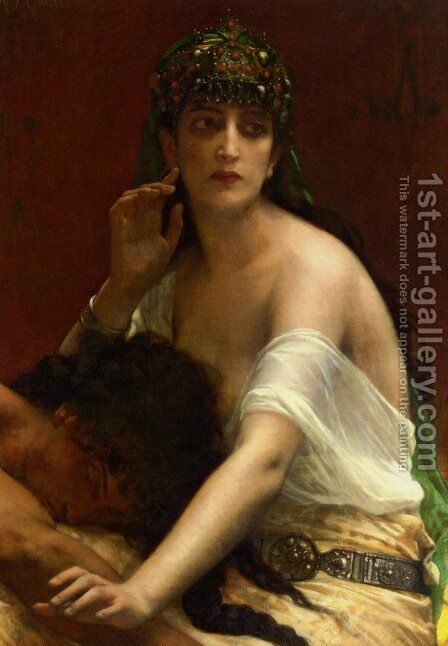 Samson and Delilah by Alexandre Cabanel - Reproduction Oil Painting
