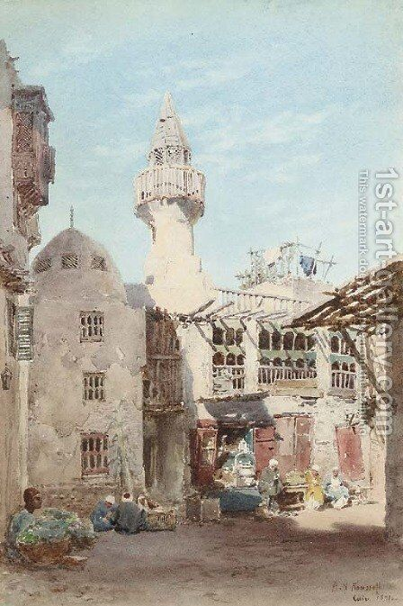 Cairo, Egypt by Alexandre Nicolaievitch Roussoff - Reproduction Oil Painting