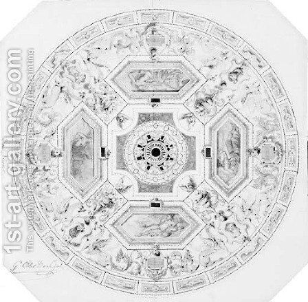 Design for the decoration of a cupola in a theatre by Alexandre-Denis Abel de Pujol - Reproduction Oil Painting