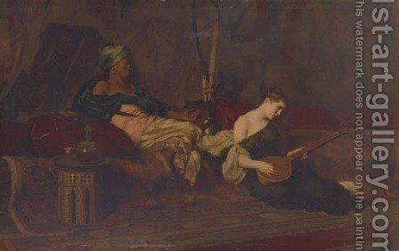 The Slave Song by Alexandre Louis Leloir - Reproduction Oil Painting