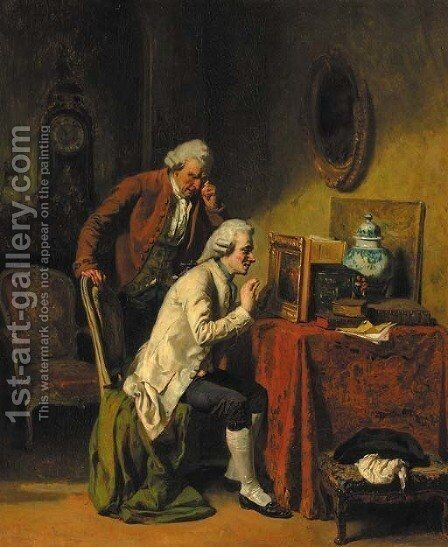 The connoisseur by Alexandre-Marie Guillemin - Reproduction Oil Painting