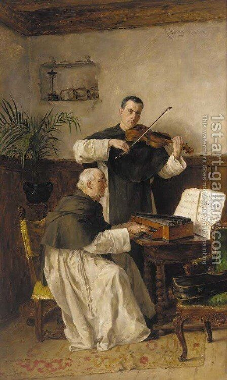 The Duet by Alfons Spring - Reproduction Oil Painting