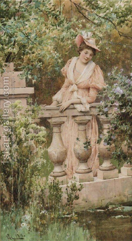 A leisurely moment by Alfred Glendening - Reproduction Oil Painting