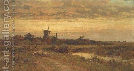 A summer's evening by Alfred Glendening - Reproduction Oil Painting