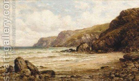 On the coast, near Salcombe, Devon by Alfred Glendening - Reproduction Oil Painting