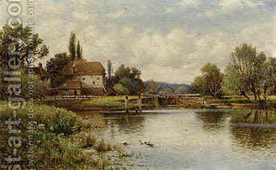 The Thames at Shiplake by Arthur Augustus II Glendening - Reproduction Oil Painting