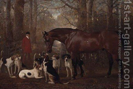 Elford, the Favourite Hunter of Hugo F. Meynell Ingram Esq by Alfred Corbould - Reproduction Oil Painting