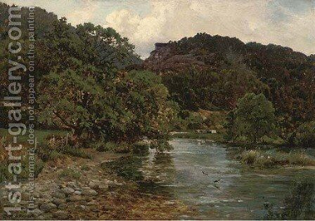 At Bettws-y-Coed, North Wales by Alfred de Breanski - Reproduction Oil Painting