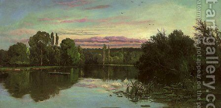 Temple Reach, Hurley by Alfred de Breanski - Reproduction Oil Painting