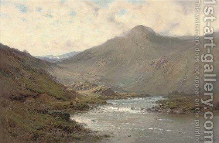 A bend of the Dee by Alfred de Breanski - Reproduction Oil Painting