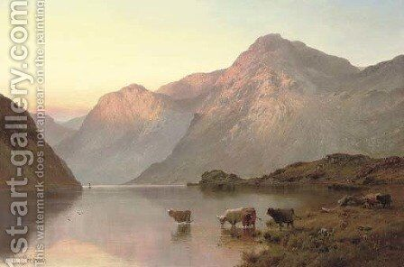 Loch Awe by Alfred de Breanski - Reproduction Oil Painting