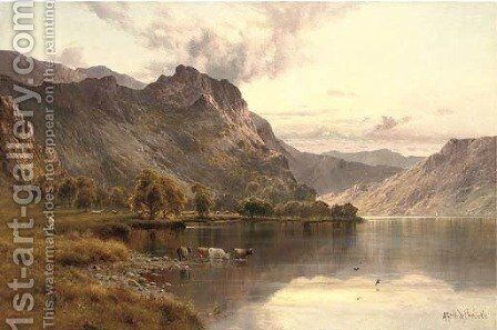 The Borrowdale pass from Derwentwater by Alfred de Breanski - Reproduction Oil Painting