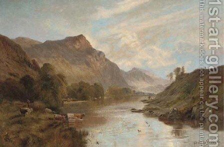 The Dee at Ballater, early morning by Alfred de Breanski - Reproduction Oil Painting