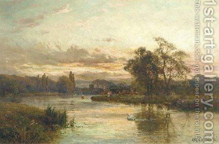 Cookham Reach by Alfred de Breanski - Reproduction Oil Painting